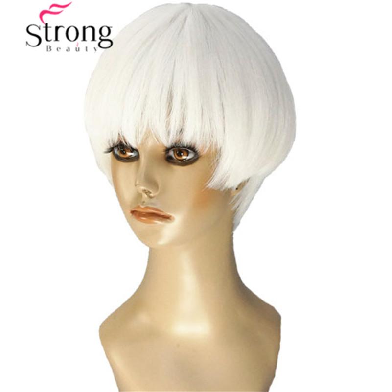 [해외]StrongBeauty 짧은 소프트 화이트 금발 가발 열 freindy 합성 전 가발/StrongBeauty Short Soft White Blonde Wig heat freindy Synthetic Full Wig