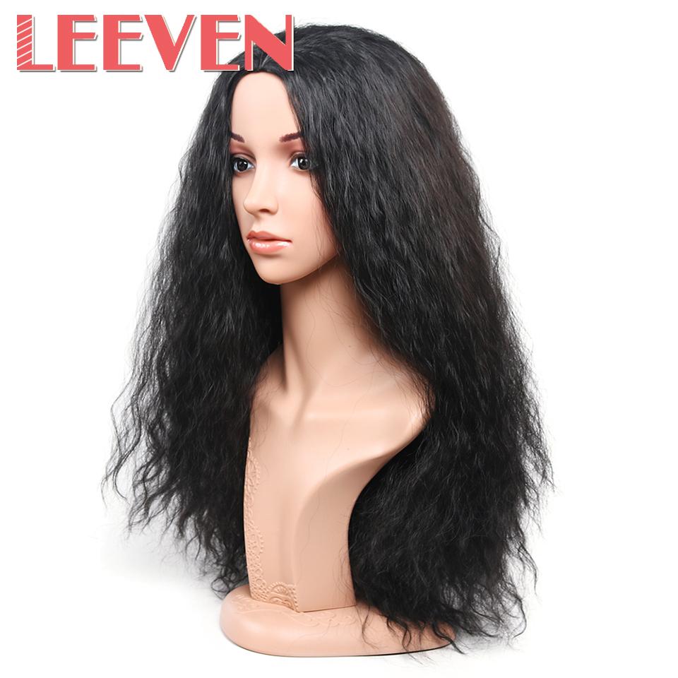 [해외]이븐 인공 머리카락 긴 웨이브 가발 고온 섬유 코스프레 가발 아프리카 여자 자연 블랙 헤어 스타일/Leeven Synthetic Hair Long Wavy Wigs High Temperature Fiber Cosplay Wig For Africa Woman Na