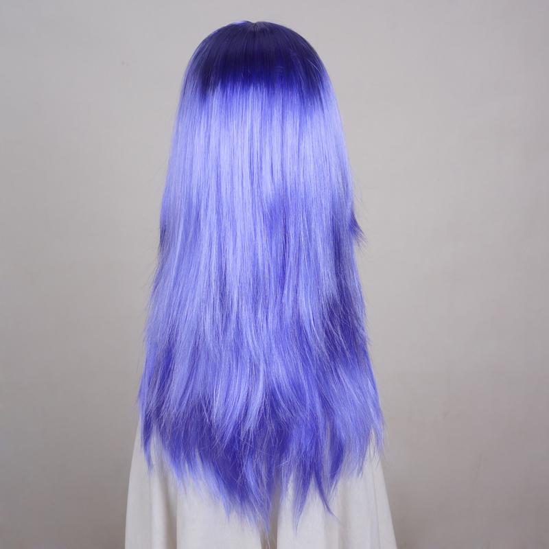 [해외]24 & 롱 스트레이트 밝은 보라색 애니메이션 여자 코스 프레 파티 가발/24& Long Straight Bright Purple Anime Women Cosplay Party Wig
