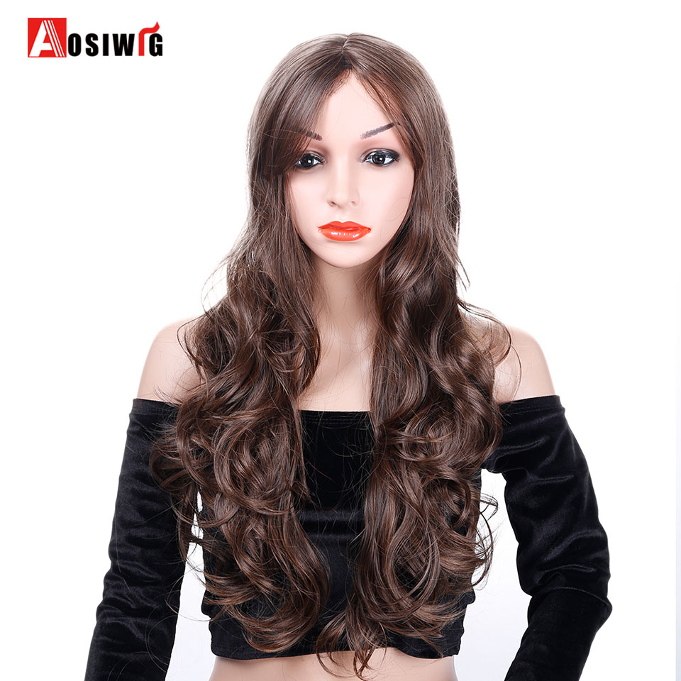 [해외]여자를5 색 의상 파티 긴 물결 모양의 가발 합성 헤어 내열성 코스프레 가발 AOSIWIG/5 Colors Costumes Party Long Wavy Wig Synthetic Hair Heat Resistant Cosplay Wig For Women AOSIW