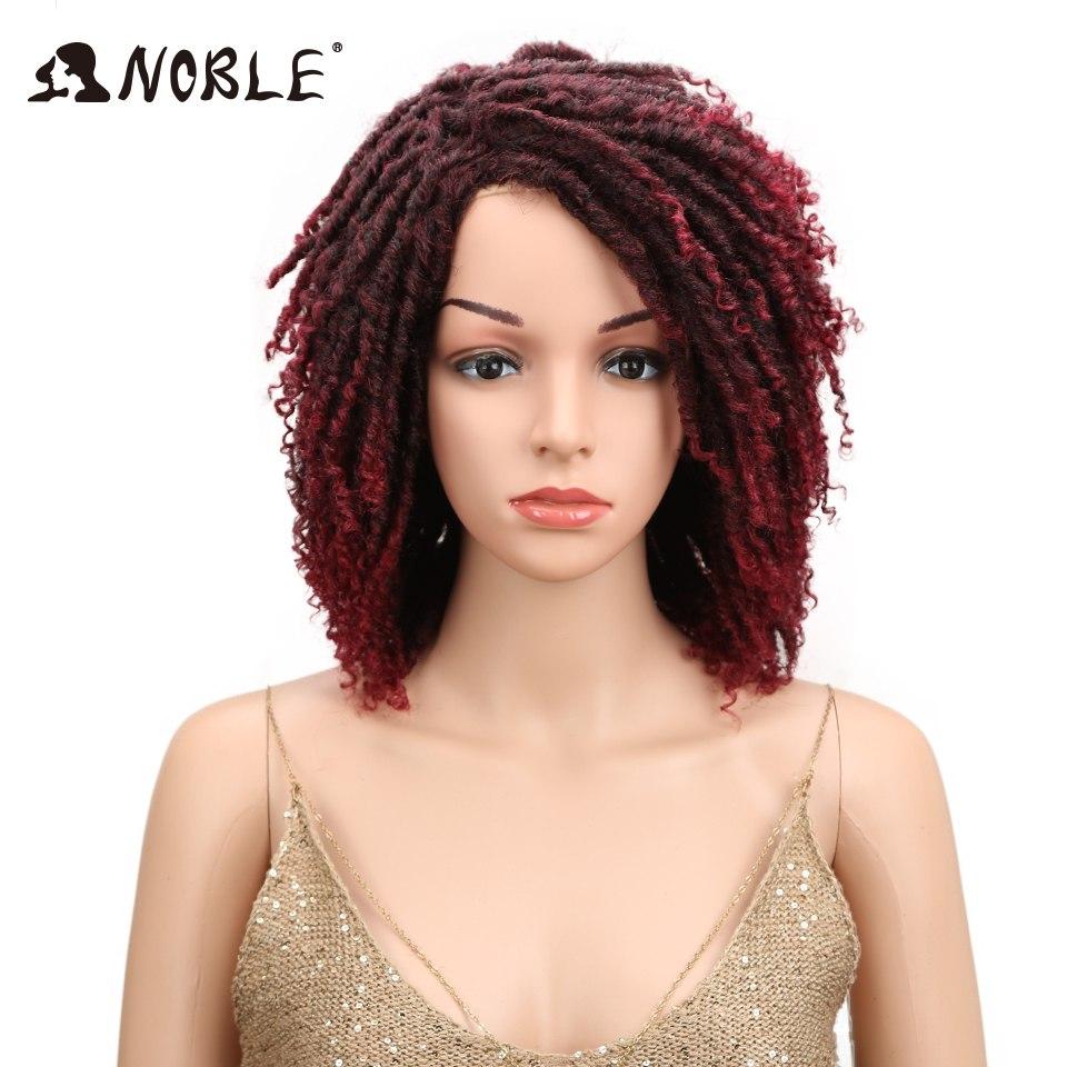 [해외]고귀한 12 & 부드러운 여성용 짧은 합성 가발 전체 머리 Dreadlock Ombre Burg 크로 셰 뜨개질 트위스트 머리 고온 섬유/Noble 12& Soft Short Synthetic Wigs For Black Women Full Head Dre