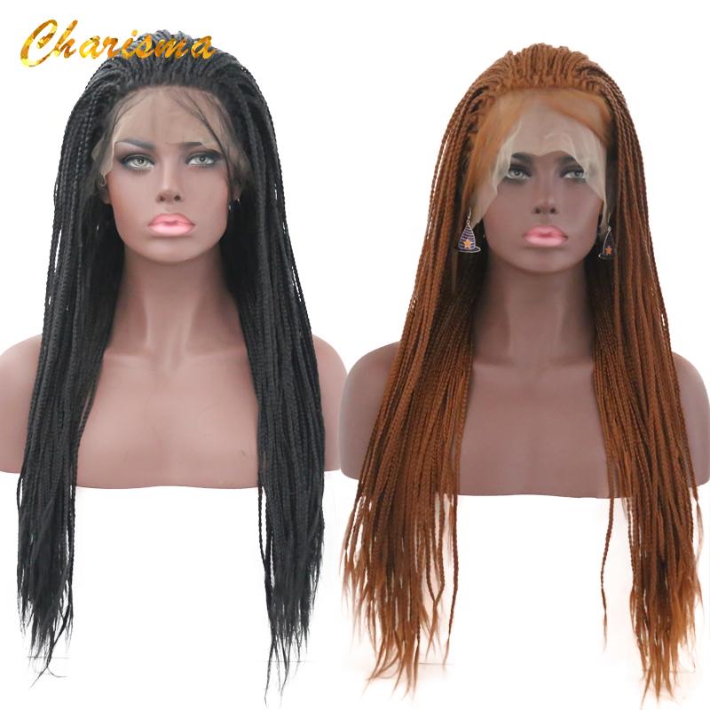 [해외]카리스마 합성 레이스 프런트 땋은 가발 퓨어 컬러 가발 24 InchBaby 머리를 땋은 가발은 흑인 여성을위한/Charisma Synthetic Lace Front Braid Wigs Pure Color  Wigs 24 InchBaby Hair Braided