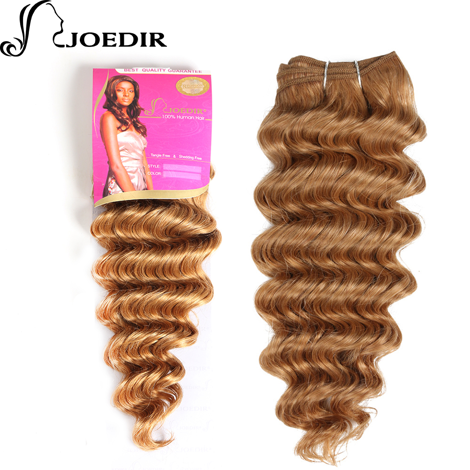 [해외]Joedir Pre-Colored 인디안 딥 웨이브 Human Hair 번들 100g 허니 블론드 헤어 위브 1 번들 27 헤어 익스텐션/Joedir Pre-Colored Indian Deep Wave Human Hair bundles 100g Honey Blo