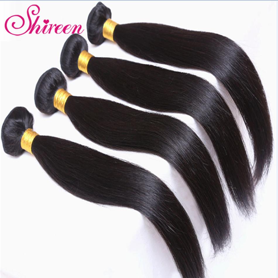 [해외]Shireen 말레이시아 스트레이트 헤어 위브 번들 4 묶음 Maylasian Hair 인간 헤어 익스텐션 Tissage Cheveux Humain/Shireen Malaysian Straight Hair Weave Bundles 4 Bundles Maylasi