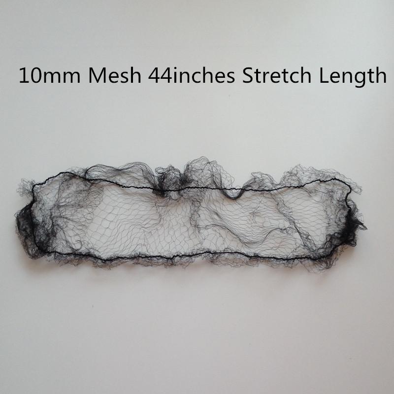 [해외]샘플 주문 20pcs 블랙 Hairnets 10mm 메쉬 44 인치 길이가 발 Packing Hairnets/Sample order 20pcs Black Hairnets 10mm Mesh 44 inches Length Wig Packing Hairnets