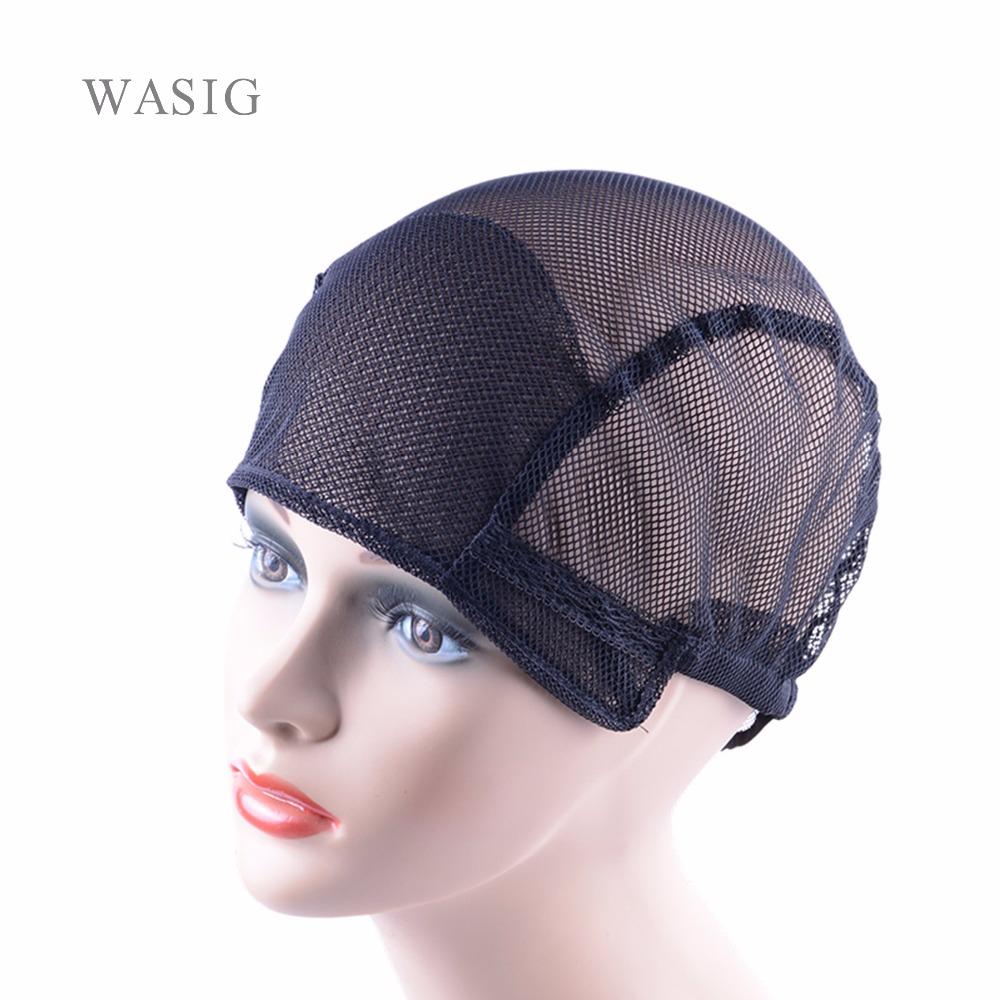[해외]가발을 만들기1PCS 검정 전체 레이스 가발 모자 무료 크기가 발 모자 net capadadesable 끈을 직조/1Pcs  black full lace wig caps for making wigs Free Size wig net cap weaving capsa