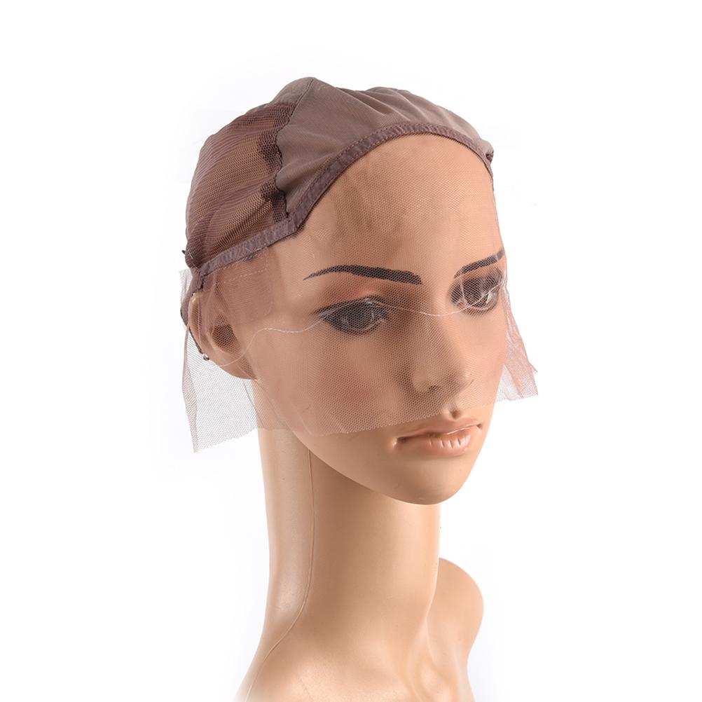 [해외]3Color 머리 넷 Hairnets 전문 레이스 앞가 발 캡 만들기 가발 조정 가능한 스트랩 위빙 모자 도구/3Colors Hair Net Hairnets Professional Lace Front Wig Caps For Making WigsAdjustable
