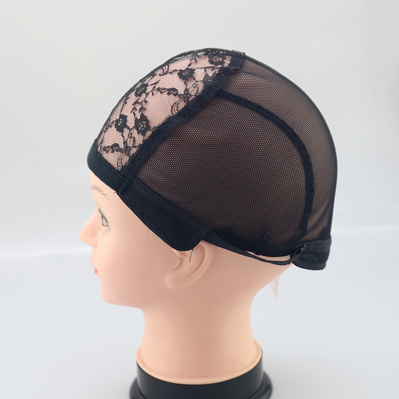 [해외]1PC 검은 가발 모자 만들기 Hairnet 보이지 않는 여성용 레이스가 발 모자 만들기가 위 조정 스트랩에 대 한/1PC Black Wig Making Caps Hairnet Invisible For Women Lace Wig Cap For Making Wig