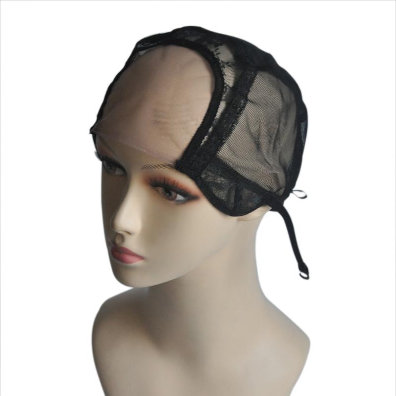 [해외]4 * 4 가발을 만들기넷 그립 가발 모자 조정 가능한 스트랩 Weaving Cap 글 루리스 가발 모자 크기 M/4*4Lace Net Wig Cap for Making WigsAdjustable Strap Weaving Cap Glueless Wig Caps