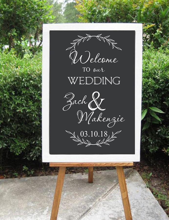 [해외]개인화 된 환영 로그인 웨딩에 대 한 우리의 웨딩 장식에 오신 것을 환영합니다 사용자 지정 비닐 아트 스티커 DIY 벽화 WD15/Personalized Welcome Sign Decal for Wedding Welcome to Our Wedding Decor