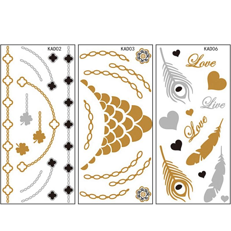 [해외]새로운 10pcs / set 아름다움 디자인 임시 문신 방수 스티커 바디 타투 스티커 네일 데칼 네일 문신 예술에 대한/New 10pcs/set Beauty Design Temporary Tattoo Waterproof Sticker For Body Tattoo