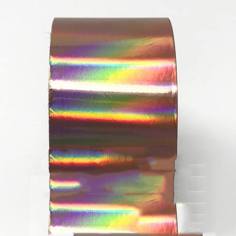 [해외]로즈 골드 1 롤 4 * 120cm 홀로그램 레이저 네일 아트 스티커 랩 플라스틱 홀로그램 전송 DIY 못 포일 전사 무늬 장식/Rose Gold 1 Roll 4*120cm Holographic Laser Nail Art Stickers Wrap Plastic
