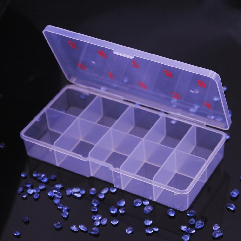 [해외]1PC 10 그리드 매니큐어 홀더 플라스틱 네일 용품 빈 스토리지 박스 네일 아트 스터드 도구 홀더 케이스 매니큐어 도구/1PC 10 Grids Nail Polish Holder Plastic Nail Supplies Empty Storage Box Nail A