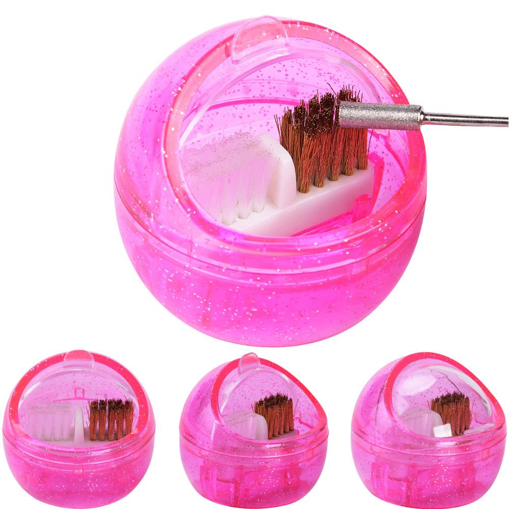 [해외]네일 아트 브러시 장비 내부 두 번 사용 깊은 청소 매니큐어 상자 플라스틱 휴대용 드릴 클리너 도구를 연 삭/Nail Art Double Use Inside Brush Equipment Grinding Deep Cleaning Manicure Box Plasti