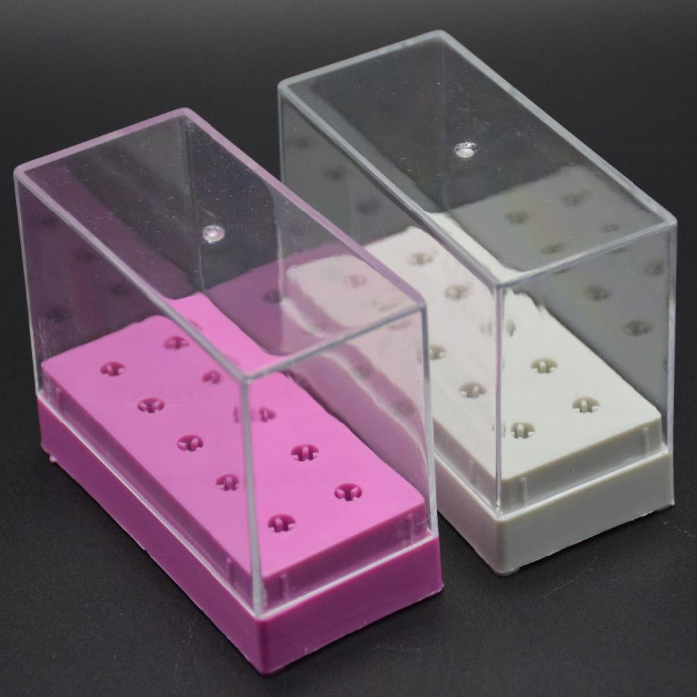 [해외]MAOHANG 슈퍼 10 홀 세라믹 카바이드 네일 드릴 비트 홀더 전시회 displayer 저장 용기 스탠드/MAOHANG Super 10holes ceramic carbide nail drill bits holder exhibition displayer sto