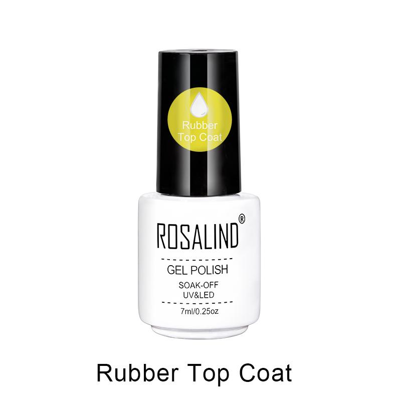 [해외]ROSALIND 7ml 러버베이스 및 탑 코트 젤 폴리쉬 매니큐어 아트 다용도 장기간 지속되는 수분 차단 탑 코트 네일 표면 보호/ROSALIND 7ml Rubber Base&Top Coat Gel Polish Manicure Art Multi-Use L