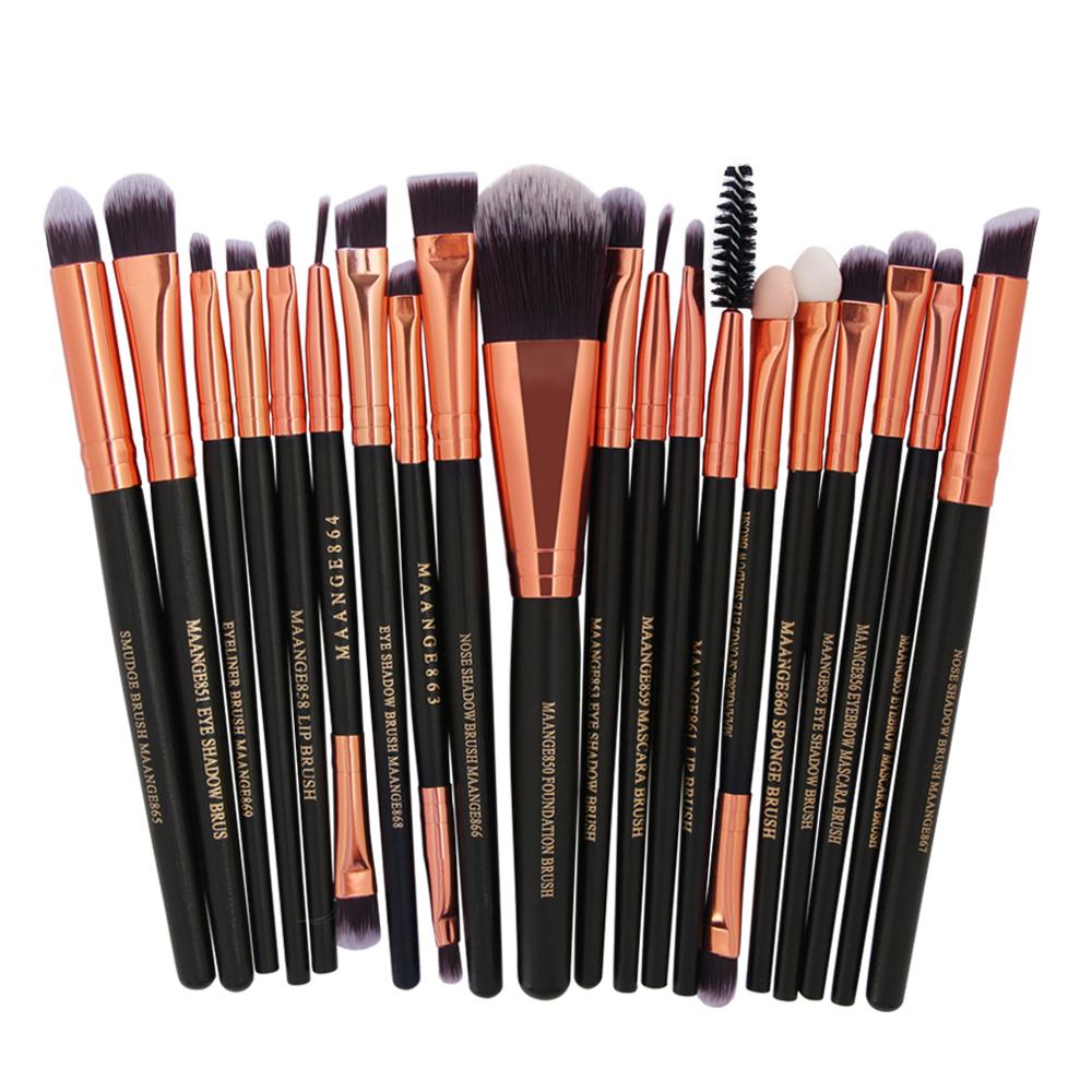 [해외]MAANGE 20Pcs 8 컬러 프로 메이크업 브러쉬 아이 섀도우 파우더 블러쉬 아이 라이너 컨실러 브러쉬 대나무 메이크업 브러쉬 Cosmetics For Face/MAANGE 20Pcs 8Color Pro Makeup Brushes Eyeshadow Powde