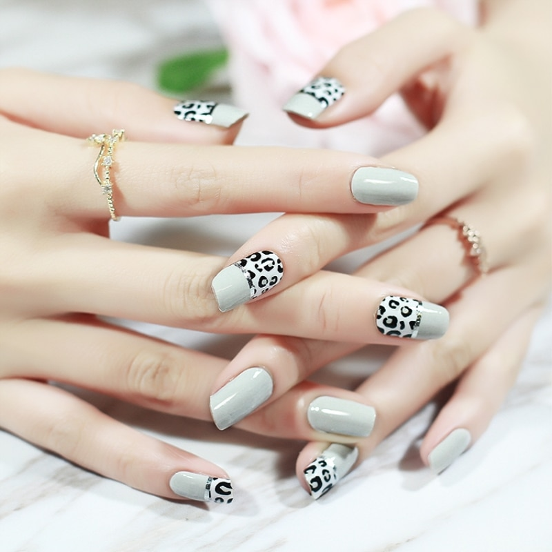 [해외]20pcs New Colorful Series Nail sticker Full waterproof Non-toxic French Nail Transfer Stickers Manicure Nail Art Decoration Tool/20pcs New Colorfu