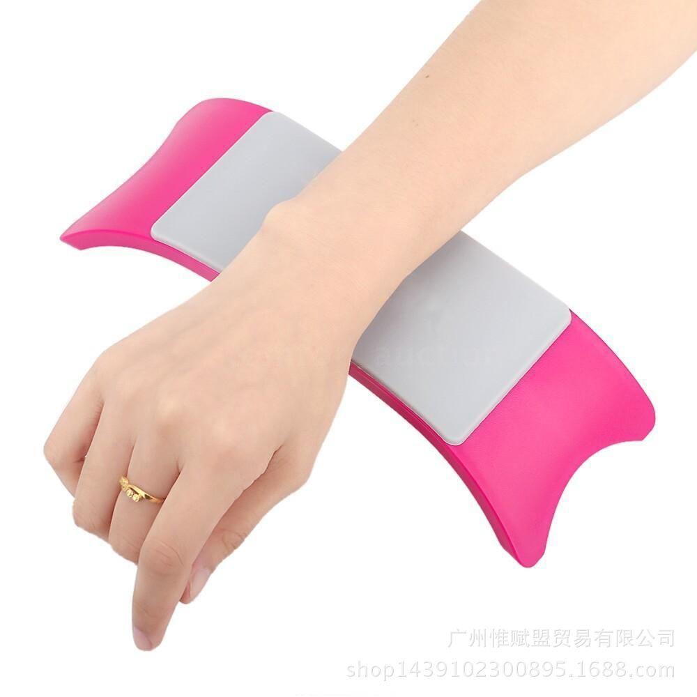 [해외]매니큐어 네일 아트 도구 쿠션 패드 팔 손 나머지 장치 매니큐어에 대 한 빨 테이블 매트 및 실리콘 손 베개 세트
