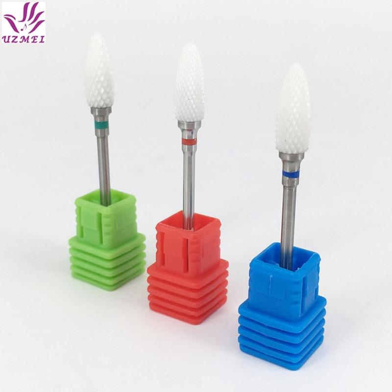 [해외]/1pcs Ceramic Nail Drill Bit Electric Manicure Pedicure Machine Nail Calluses Bit Electric nail drill bit 3/32\