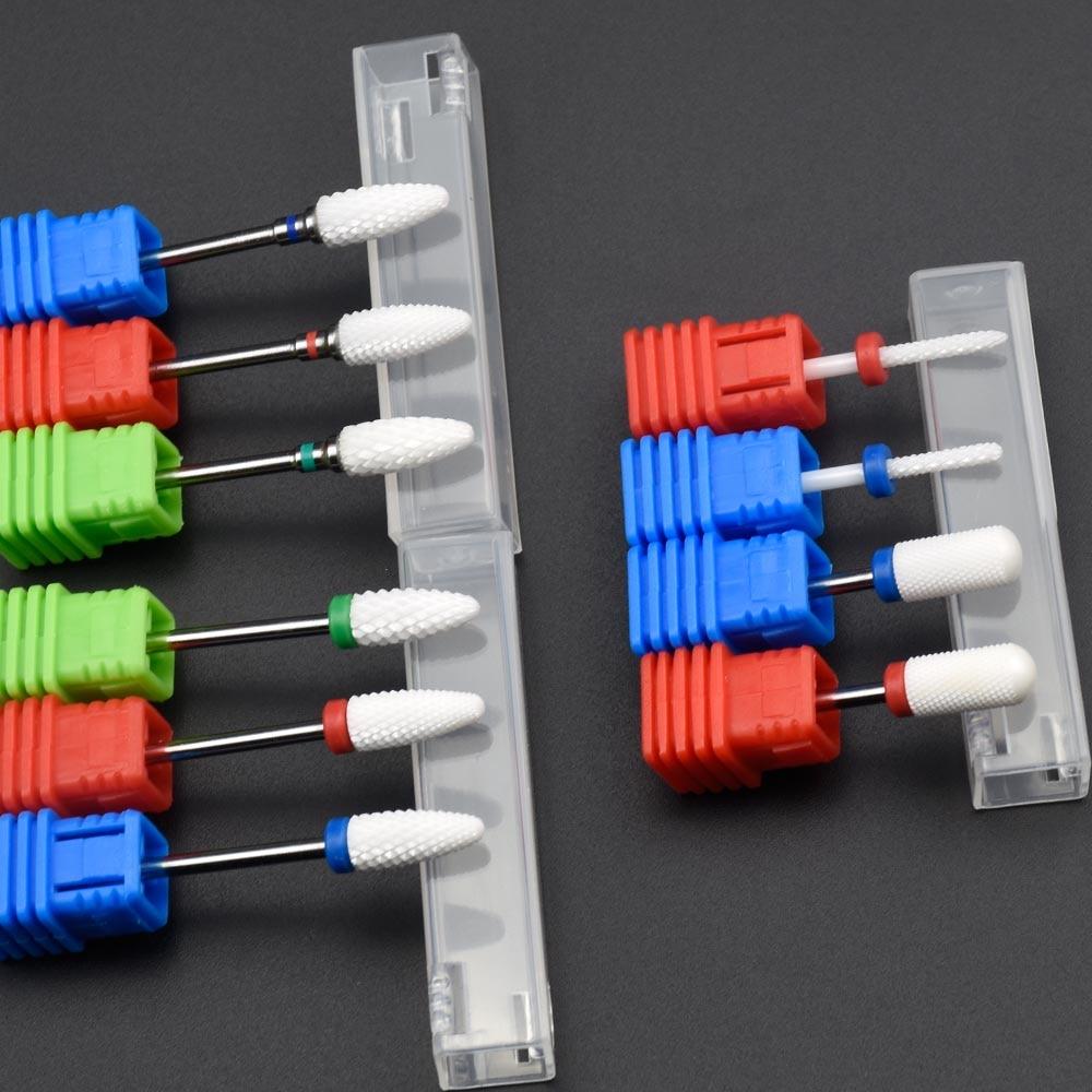 [해외]/Jewhiteny 10Type Ceramic Nail Drill Bit Manicure Machine Milling Cutter Manicure Electric Machine Nail Drill Accessories