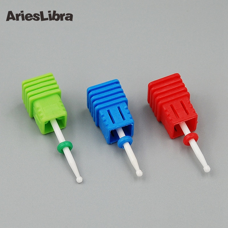 [해외]AriesLibra 10PCS Electric File Ceramic Nail Drill Bit Cuticle Round Head Cutter Nail Art Manicure Accessory Polish Tool/AriesLibra 10PCS Electric