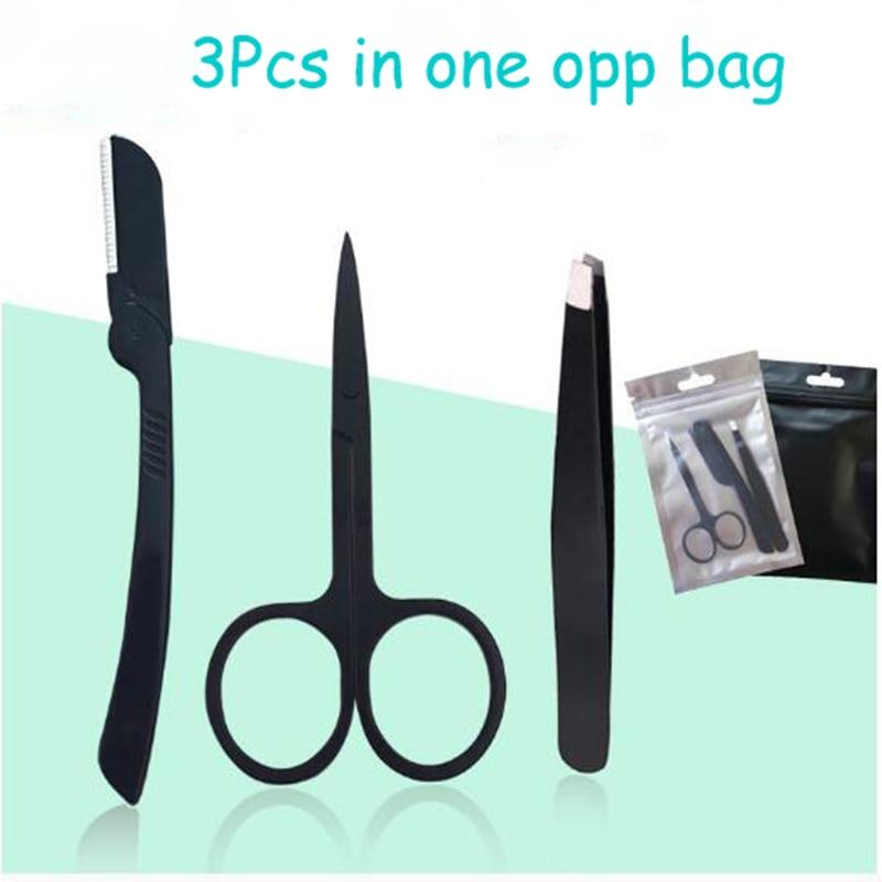 [해외]/120Sets Women Eyebrow Razor Facial Hair Remover Tweezers Trimmer EyeBrow Scissors Shaver Makeup Knife Face Care -Free shipping