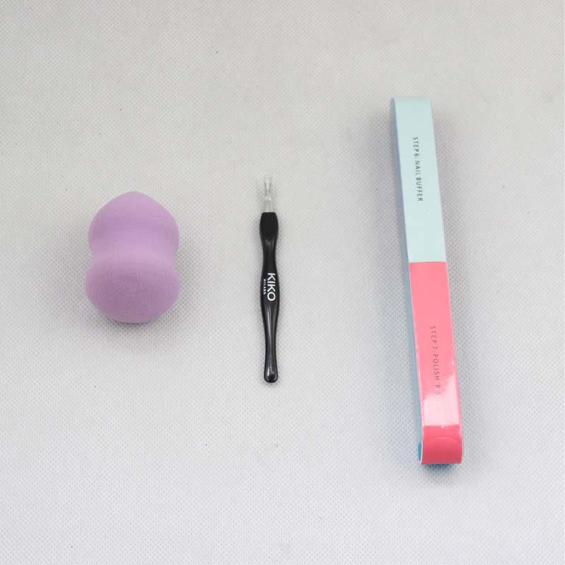 [해외]3pcs / set 네일 케어 툴 메이크업 코스메틱 세트 키트 바우처 파우더 포함 퍼프 메이크업 스펀지 블렌더 큐티클 푸셔 네일 파일/3Pcs/set Nail Care Tools Makeup Cosmetic Set Kit Include Gourd Powder P
