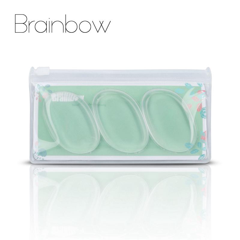 [해외]브레인 보우 3pcs / 팩 메이크업 실리콘 스폰지 젤리 파운데이션 크림 파우더 퍼프 페이스 코스메틱 퍼프 블렌더 메이크업 뷰티 에센셜/Brainbow 3pcs/Pack Makeup Silicone Sponge Jelly Foundation Cream Powde