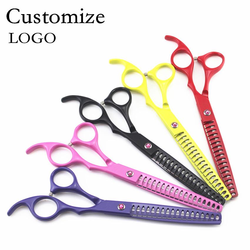 [해외]머리 가위 미용 전문 가위 7 인치 애완 동물 개를 맞춤형 가위 가위 미용 가위 미용 가위 미용 가위 미용 가위/Customize professional 7 inch pet dog grooming hair scissors thinning scissors shea