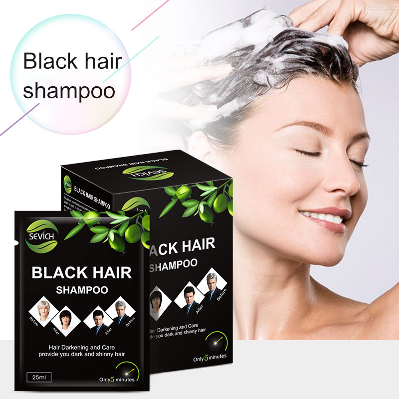 [해외]/5pcs/lot Instant Black Hair Shampoo Make Grey and White Hair Darkening and Shinny in 5 Minute Sevich Brand Make Up