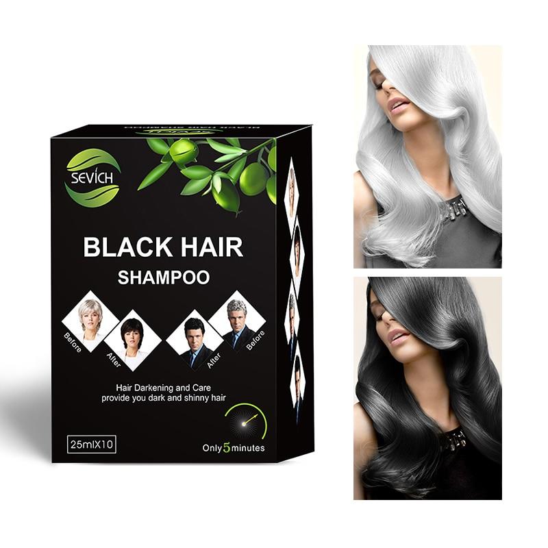 [해외]/5pcs/lot Instant Black Hair Shampoo Make Grey and White Hair Darkening and Shinny in 5 Minute