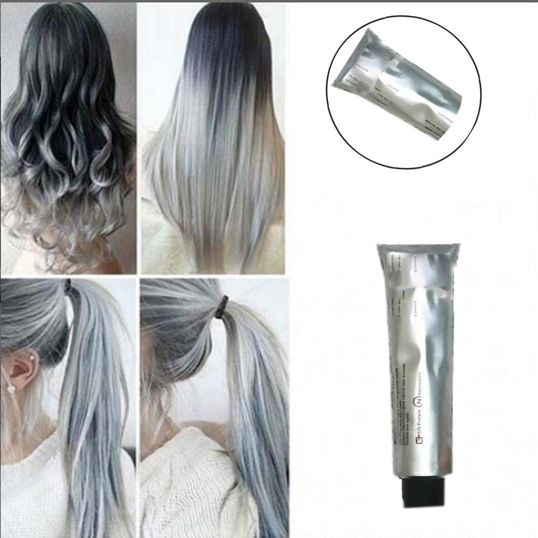 [해외]/Color Casual Permanent All Gray DIY Hair Natural Styling Hair Seasons Color Light Dye Uni100ml Cream