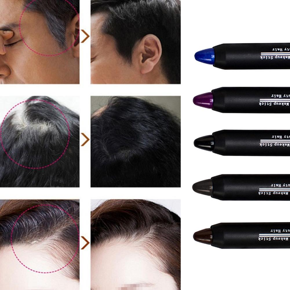 [해외]/ 1pc Temporary Cover White Non-Toxic Salon Instant Hair Color Dye Crayon Chalk Stick Hair Styling Tool tinte para el cabello New