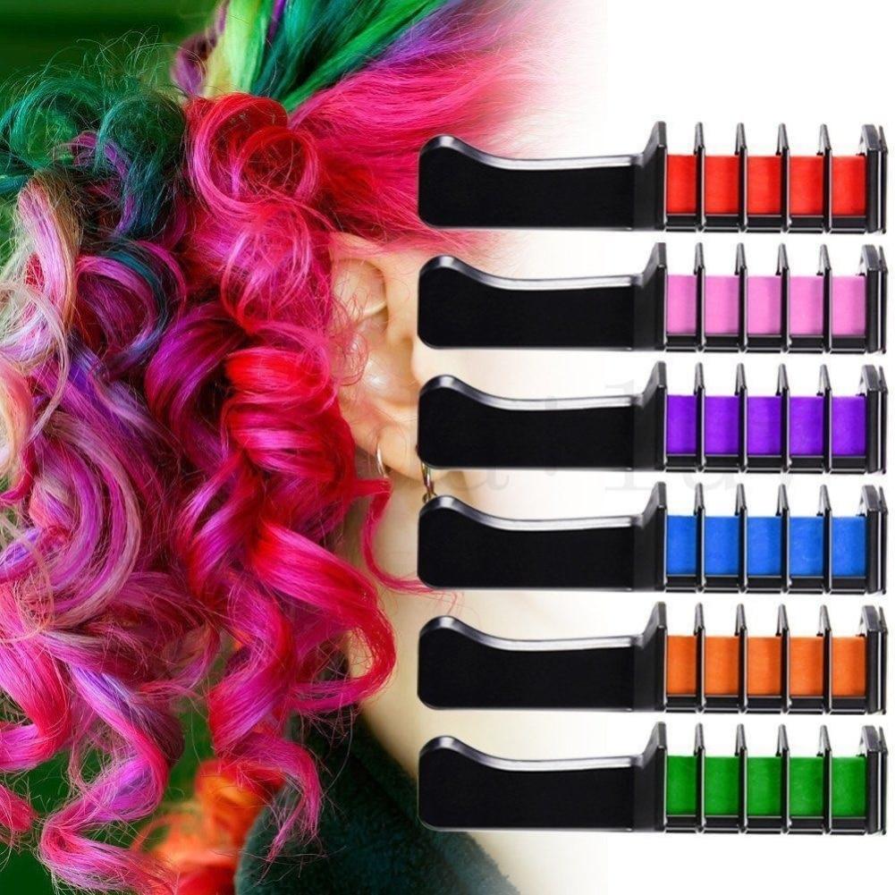 [해외]/Professional 6Pcs/Set Mini Disposable Personal Salon Use Temporary Hair Dye Comb Crayons Hair Dyeing Tool TSLM2