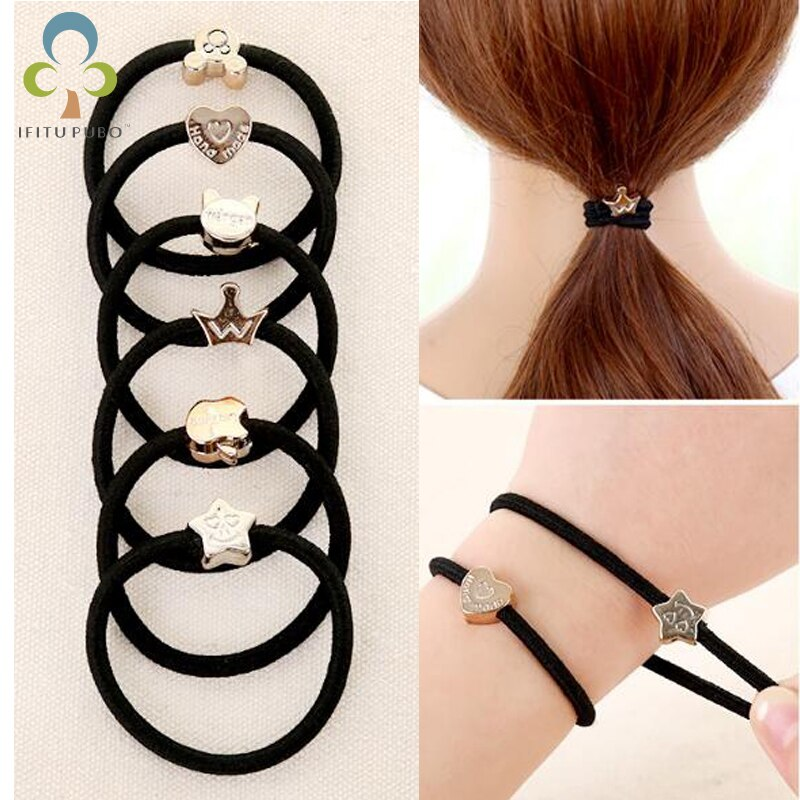 [해외]20pcs/lot High elastic black tie hair rope hair band girl hair tools simple fashion hair rope LYQ/20pcs/lot High elastic black tie hair rope hair