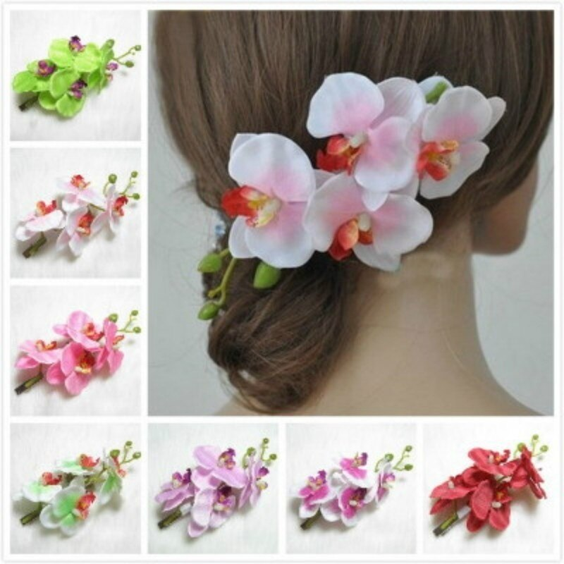 [해외]Bride Bridesmaid Hair Flower Hairpin Butterfly Orchid Hair Hair Ornament 4 Flower Flower Hair Accessories/Bride Bridesmaid Hair Flower Hairpin But