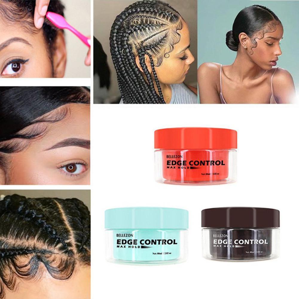 [해외]80ml UniHair Oil Wax Cream Edge Control Hair Styling Cream Broken Hair Finishing Anti-Frizz Hair Fixative Gel/80ml UniHair Oil Wax Cream Edge Cont