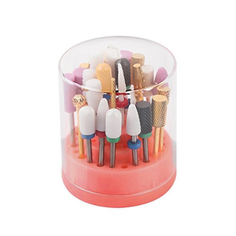 [해외]48 구멍 네일 드릴 비트 홀더 스탠드 Displayer 주최자 매니큐어 키트 세트 스토리지 박스/48 Hole Nail Drill Bit Holder Stand Displayer Organizer Nail Polish Kit Set Storage Box