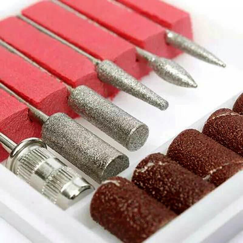 [해외]6pcs / 세트 전문 금속 손톱 연 삭 머리 전기 매니큐어 네일 교체 액세서리/6pcs/Set Professional Metal Nail Grinding Head Electric Mnicure Nail Replacement Accessories