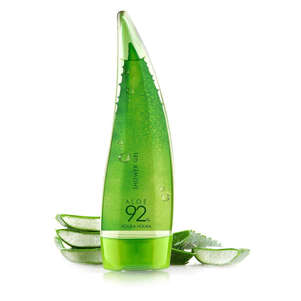[해외]Holika holika 알로에 92% 샤워 젤 250 ml 스킨 케어 화이트닝 모이스춰 라이징 샤워 젤 best korean cosmetics