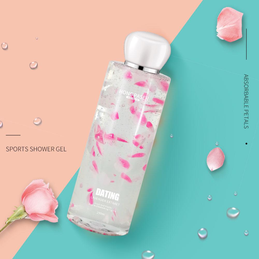 [해외] HONG PASER Lavender Petals Moisturizing Portable Bottled Body Wash 300ml Cleansing Oil Control Soothing Firming/ HONG PASER Lavender Petals Moist
