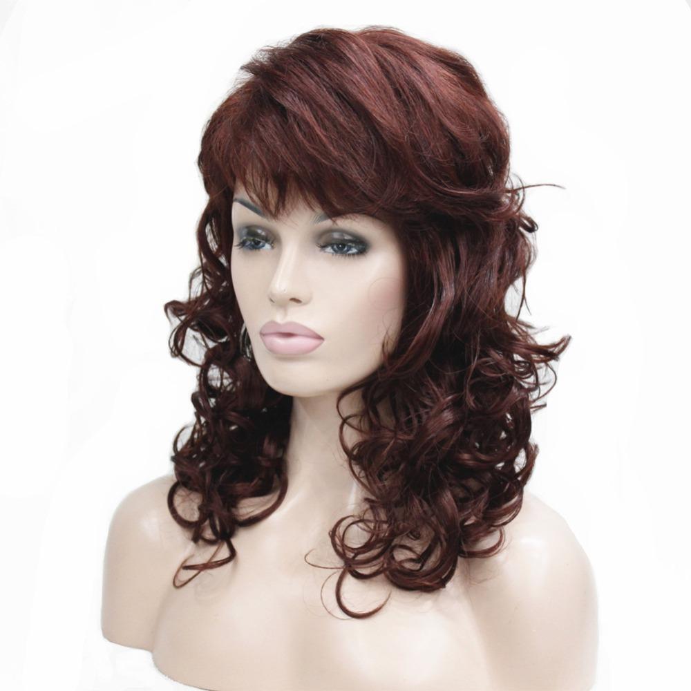 [해외]StrongBeauty 여성과 오번 / 금발 자연 긴 곱슬 머리 가발 종합 가발/StrongBeauty Women&s Auburn/Blonde Natural Long Curly Hair Wig  Synthesis Full Wigs