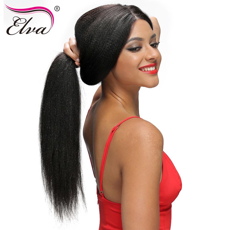 [해외]엘바 헤어 250 % 밀도 레이스 프론트 인간의 머리카락 가발 Pre Plucked HairlineBaby Hair 브라질 야키 스트레이트 레미 헤어 가발/Elva Hair 250% Density Lace Front Human Hair Wigs Pre Pluck