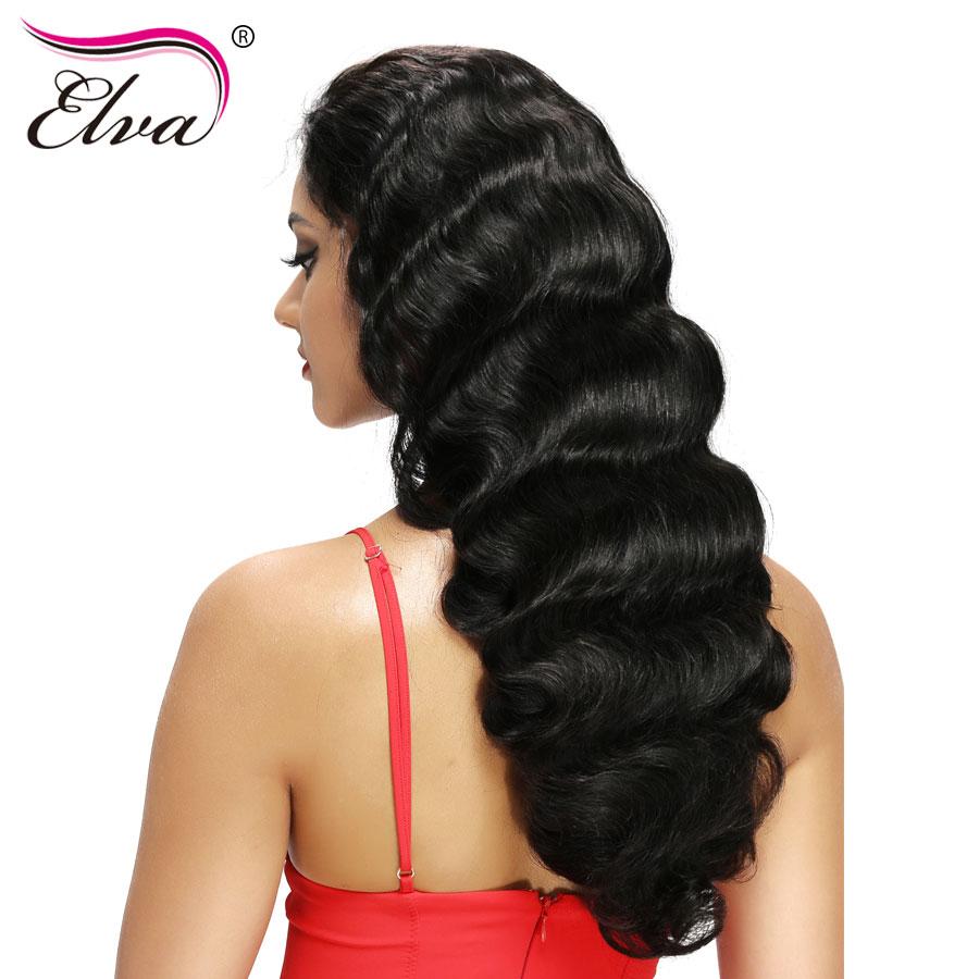[해외]엘바 헤어 180 % 밀도 360 레이스 정면 가발 Pre PluckedBaby Hair 10 & -22 & Body Wave Natural Color 브라질 레미 헤어 가발/Elva Hair 180% Density 360 Lace Frontal