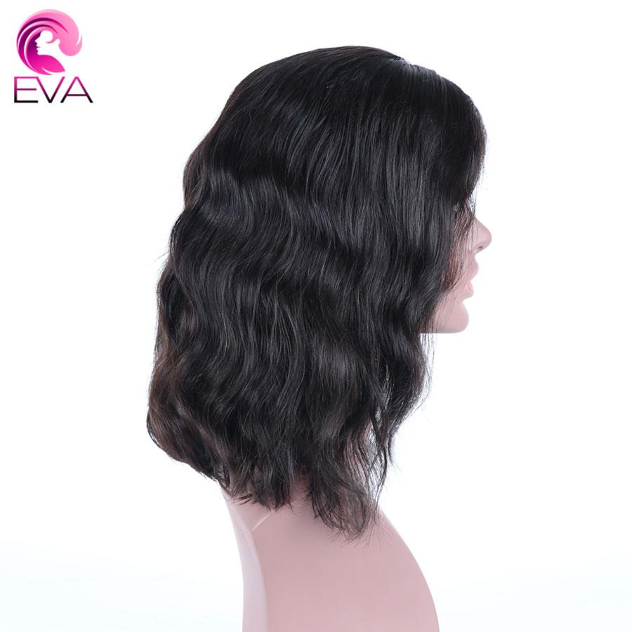 [해외]에 바 머리 150 % 밀도 짧은 인간의 머리카락 밥가 위 블랙 여성 Pre 뽑은 10 & -14 & 물결 모양 중간 부품 브라질 레미 헤어가 발/Eva Hair 150% Density Short Human Hair Bob Wigs For Blac
