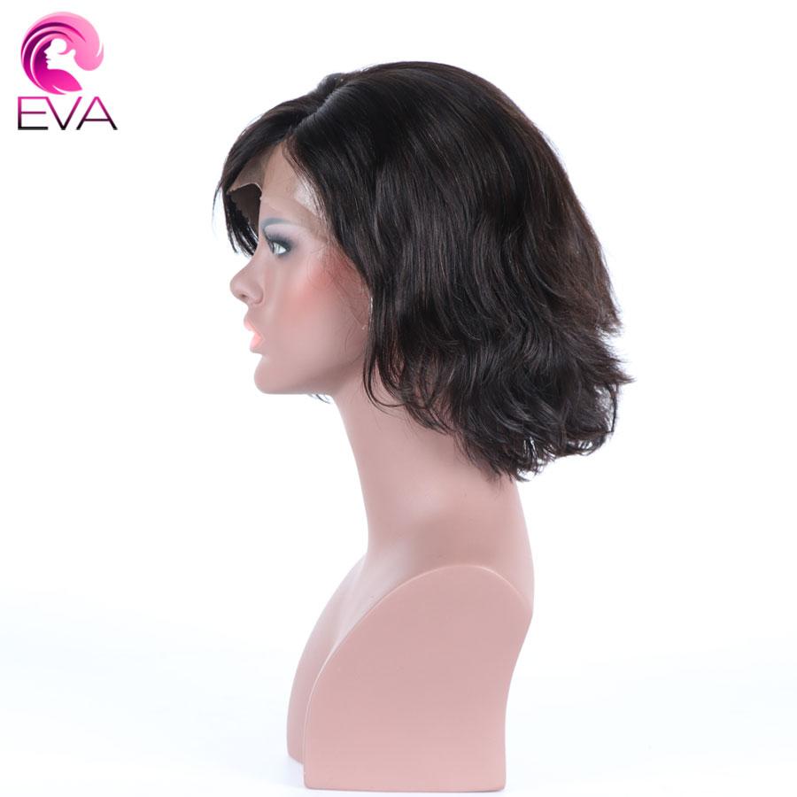 [해외]에바 헤어 150 % 밀도 인간의 머리카락 밥 가발 미리 뽑아 브라질 레미 헤어 8 & -12 & 블랙 여성을짧은 물결 레이스 프런트 가발/Eva Hair 150% Density Human Hair Bob Wigs Pre Plucked Brazil