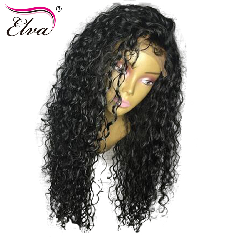 [해외]엘바 머리 250 % 밀도 레이스 프런트 인간의 머리카락 가발 흑인 여성을Pre Prelued Natural Hairline 브라질 레미 헤어 컬리 가발/Elva Hair 250% Density Lace Front Human Hair Wigs For Black