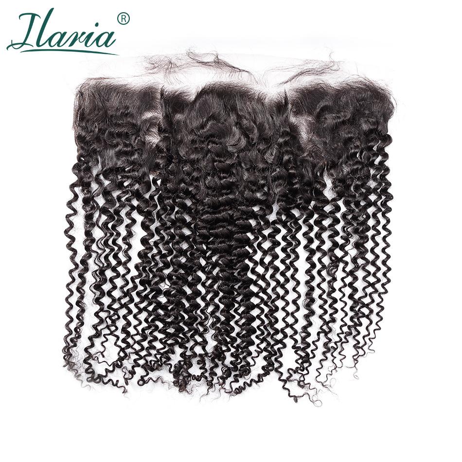 [해외]ILARIA HAIR 브라질 인간의 변태 곱슬 머리 레이스 정면 클로져 아기의 머리카락 13x4 귀에 귀 빠지면 찌그러진 매듭/ILARIA HAIR Brazilian Human Kinky Curly Hair Lace Frontal ClosureBaby Hair