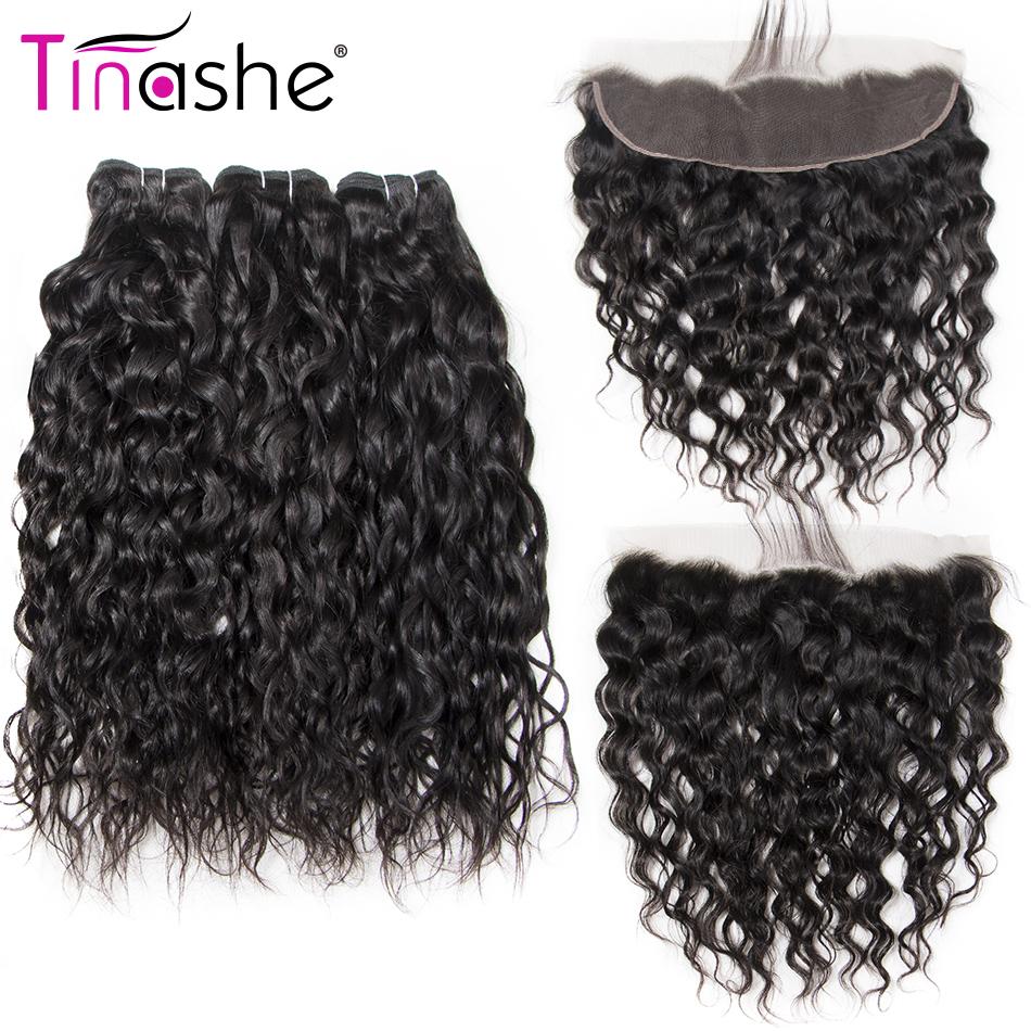 [해외]Tinashe 브라질 헤어 3 번들 클로저 레이스 정면 클로저 번들 레미 인간 헤어 워터 웨이브 번들 프론트 엔드/Tinashe Brazilian Hair 3 BundlesClosure Lace Frontal ClosureBundles Remy Human Hai